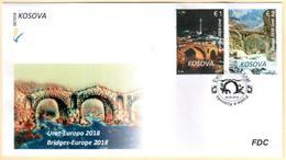 Kosovo Stamps 2018. Europa CEPT: Bridges. FDC Set MNH - Kosovo