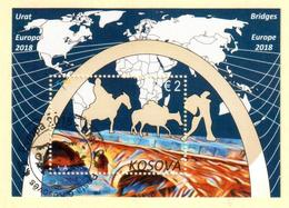 Kosovo Stamps 2018. Europa CEPT: Bridges. CTO Souvenir Sheet MNH - Kosovo