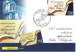 ITALIA MAXIMUM MAXI CARD 2009 RELAZIONI DIPLOMATICHE TRA ITALIA E BULGARIA . - F.D.C.