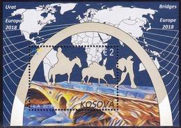 Kosovo Stamps 2018. Europa CEPT: Bridges. Block, Souvenir Sheet MNH - Kosovo