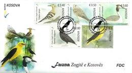 Kosovo Stamps 2018. Fauna: Birds. Falco, Upupa, Sturnus, Oriolus. FDC Set MNH - Kosovo