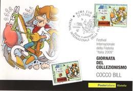 ITALIA 3 MAXIMUM MAXI CARD 2009 GIORNATA DEL COLLEZIONISMO . - F.D.C.