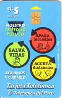 PERU - Nuestro Teléfono Público, 06/98, Used - Peru