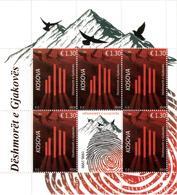 Kosovo Stamps 2018. Martyrs Of Gjakova. Dove. Birds. Fingerprints. Sheet MNH - Kosovo