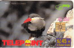 PERU - Bird, Zarcillo(reverse Ventajas), Used - Peru