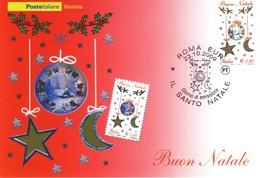 """2009 Italia """" Natale Laico """" Cartolina Postale. - F.D.C."""