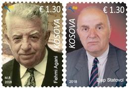 Kosovo Stamps 2018. Personalities Ejup Statovci & Fehmi Agani. Set MNH - Kosovo