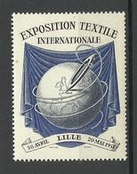 FRANKREICH France 1951 Exposition Textile Internationale Lille Advertising Vignette MNH - Advertising