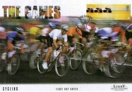 INGHILTERRA -'E' 2002 C/W CYCLING FIRST DAY COVER - Ciclismo