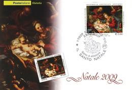 "2009 Italia "" Natale Religioso "" Cartolina Postale. - F.D.C."
