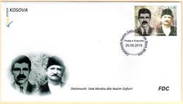Kosovo Stamps 2018. The Martyrs: Stak Mirdita & Nazim Gafurri. FDC Set MNH - Kosovo
