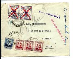 FELANITX - Palma De MALLORCA 1936 - Par Avion Pour La SUIZA - Via ROMA - 1931-Today: 2nd Rep - ... Juan Carlos I