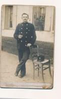 Belle Photo En Carton épais 16 X 11  Tampon Photo Cambrai Description Uniforme ( Facteur Postier Vu Le Képi ) - Mestieri