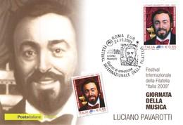 Repubblica Italiana 2009 FDC Cartolina Postale Giornata Della Musica. - F.D.C.