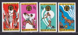 WALLIS ET FUTUNA AERIENS N°   63 à 66 ** MNH Neufs Sans Charnière, TB (D8185) Sports, Jeux Du Pacifique Sud - 1975 - Poste Aérienne