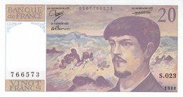 Billet 20 F Debussy 1988 FAY 66.09 Alph. S.023 NEUF - 1962-1997 ''Francs''