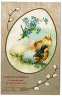 Carte Publicitaire Exposition Universelle De Bruxelles 1910 - Savonnerie - Parfumerie Pierre Ney Verviers - Pâques - Expositions Universelles