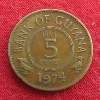 Guyana 5 Cents 1974 KM# 32 Guiana - Guyana