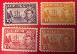 ST. HELENA - MH*  - 1938-1940  - # 118, 119A, 120, 121 - Sainte-Hélène