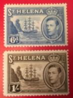 ST. HELENA - MH*  - 1938  - # 123, 124 - Sainte-Hélène