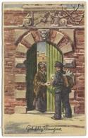 Gelukkig Nieuwjaar - Postbode Die Post Bezorgt - Postmark 1948 - New Year