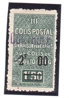 COLIS POSTAUX Algérie  (Yv.48) My. 62 II* - Colis Postaux