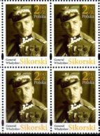 2018 Poland -General Wladislaw Sikorsky - World War I Hero, Prrime Minister, Block Of 4 MNH** MiNr. 5003 - 1. Weltkrieg