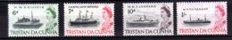 1965 Tristan Da Cunha - Ships And Queen Elisabeth II - MNH** MI 78-81 - Tristan Da Cunha