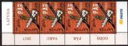 2017 Latvia / Lettland - Against Corruption - Chess Queen -Strip Of 4 V MNH** Mi 1026 - Lettland