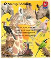 1998 Namibia - Booklet Flowers And Animals - 16 V Paper - Mi 876 C/ 893C - Lion, Hypo, Giraff, Bufallo, Elaphant - Namibia (1990- ...)