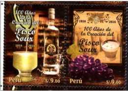 2016 Peru - 100 Jahre Pisco Sour/ 100 Years Of Pisco Sour Recepy - 2v Setetnant - MNH** Mi 2766/67 - Peru