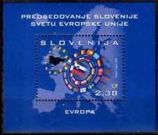 2008 Slovenia - Slovenia Ppresidency In European Union - MS - Mi B 36 MNH** Hang On / CEPT Mitlaufer - Slovénie