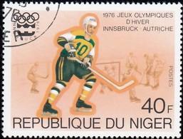 NIGER - Scott #347 Innsbruck '76 Winter Olympic Games, Ice Hockey  / Used Stamp - Winter 1976: Innsbruck