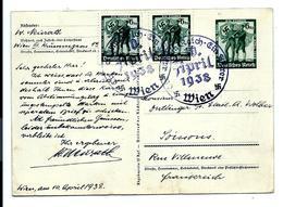 ENTIER Postal EIN FUHRER 13/03/1938 - Expédié De WIEN Autriche - Deutschland
