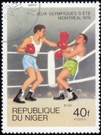NIGER - Scott #363 Montréal '76 Winter Olympic Games, Boxing / Used Stamp - Summer 1976: Montreal