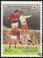 NIGER - Scott #365 Montréal '76 Winter Olympic Games, Soccer / Used Stamp - Summer 1976: Montreal