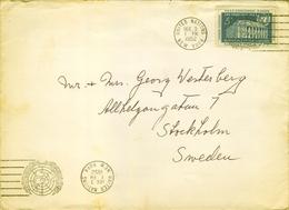 1952 , NACIONES UNIDAS , NUEVA YORK - ESTOCOLMO , SOBRE CIRCULADO - Cartas