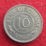 Guyana 10 Cents 1967 KM# 33 Guiana - Guyana