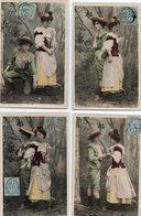 F1201 - Lot De 5 Cartes Postales - Série N° 336 Dépit Amoureux - N° 2 - 4 - 6 - 8 Et 10 - Couples
