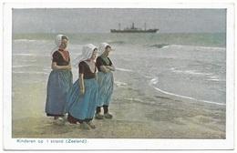Kinderen Op 't Strand Unused 1930's - F B Den Boer - Netherlands