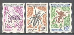 Terres Australes Et Antarctiques Françaises (TAAF) : Yvert N° 49/51**; MNH; Insectes - Französische Süd- Und Antarktisgebiete (TAAF)