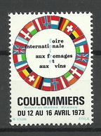 FRANKREICH France 1973 Coulommiers Seine Et Marne Foire Internationale Fromages & Vins Vignette MNH - Advertising
