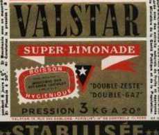 "Etiquette ""VALSTAR"" Super Limonade - Zonder Classificatie"