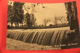 Milano Parco Lambro La Cascata 1957 + Timbro Targhetta Agosto Messinese - Altre Città