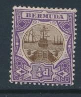 BERMUDA, 1906 ¼d Fine Light MM - Bermuda