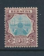 BERMUDA, 1906 4d Fine MM - Bermuda