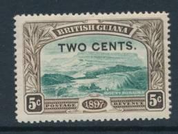 BRITISH GUIANA, 1898 2c On 15c Fine Light MM, Cat £5 - British Guiana (...-1966)