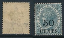 BRITISH HONDURAS, 1891 50c Fine Light MM, SG42, Cat £38 - Brits-Honduras (...-1970)
