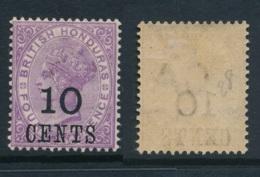BRITISH HONDURAS, 1891 10c Superb MM, SG40, Cat £27 - British Honduras (...-1970)