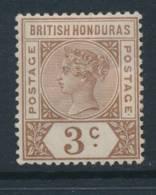 BRITISH HONDURAS, 1891 3c, Cat £10 Fine MM - Brits-Honduras (...-1970)